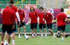 Czeska reprezentacja podczas ostatniego treningu przed meczem z Portugalią | fot. fotbal.cz