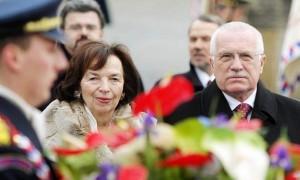 Prezydent Klaus z małżonką Liwią | foto: Jan Zátorský