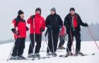 Następnego dnia po spotkaniu w Wiśle prezydenci Gašparovič i Komorowski jeździli w Oravicach na nartach| fot. http://www.facebook.com/KomorowskiBronislaw