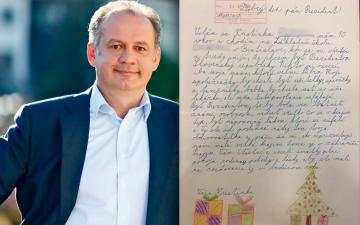 """10-letnia Kristinka napisała do Andreja Kiski: """"Chcę być prezydentem Słowacji"""". Genialna reakcja prezydenta"""